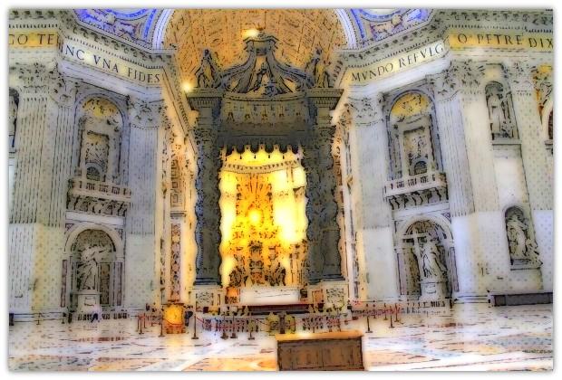 Wnetrze Bazyliki Św. Piotra